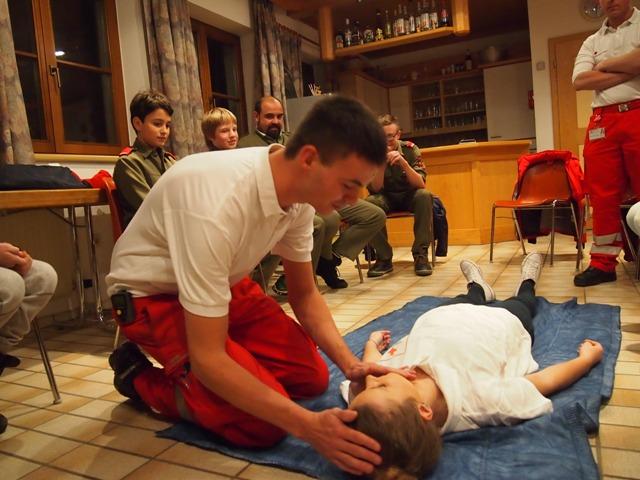 FJ-Erste-Hilfe-Übung mit Rettung Steinach