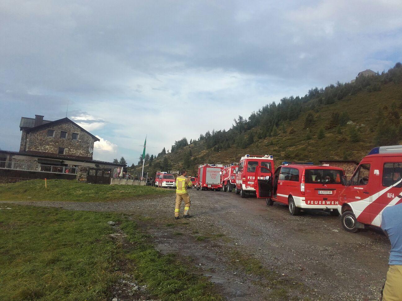 Evakuierung am Patscherkofel